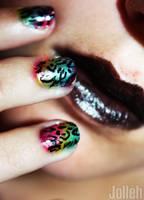 Rainbow Leopard by AbefaceJolleh