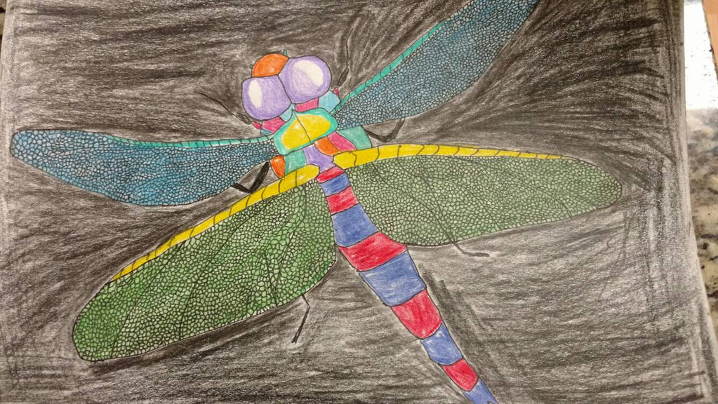 Neon Dragonfly by luvwlf468