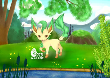 Leafeon by DeerCrowShadow