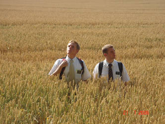 Two Elders in a field by BasementHeaven