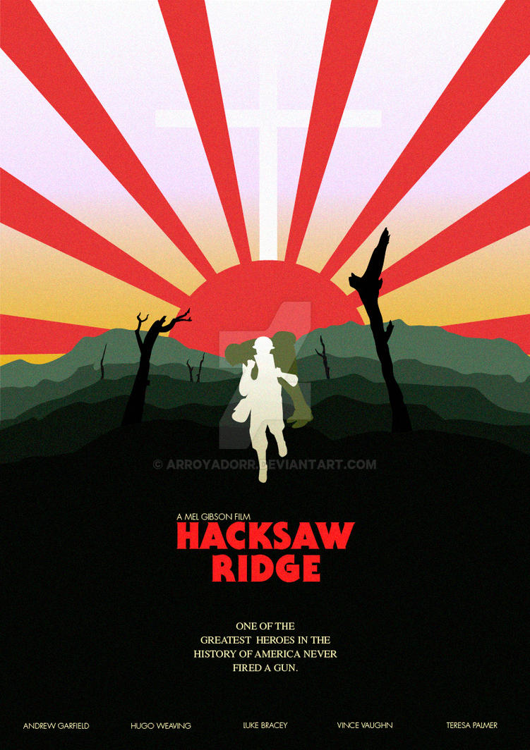 Hacksaw Ridge poster by Arroyadorr
