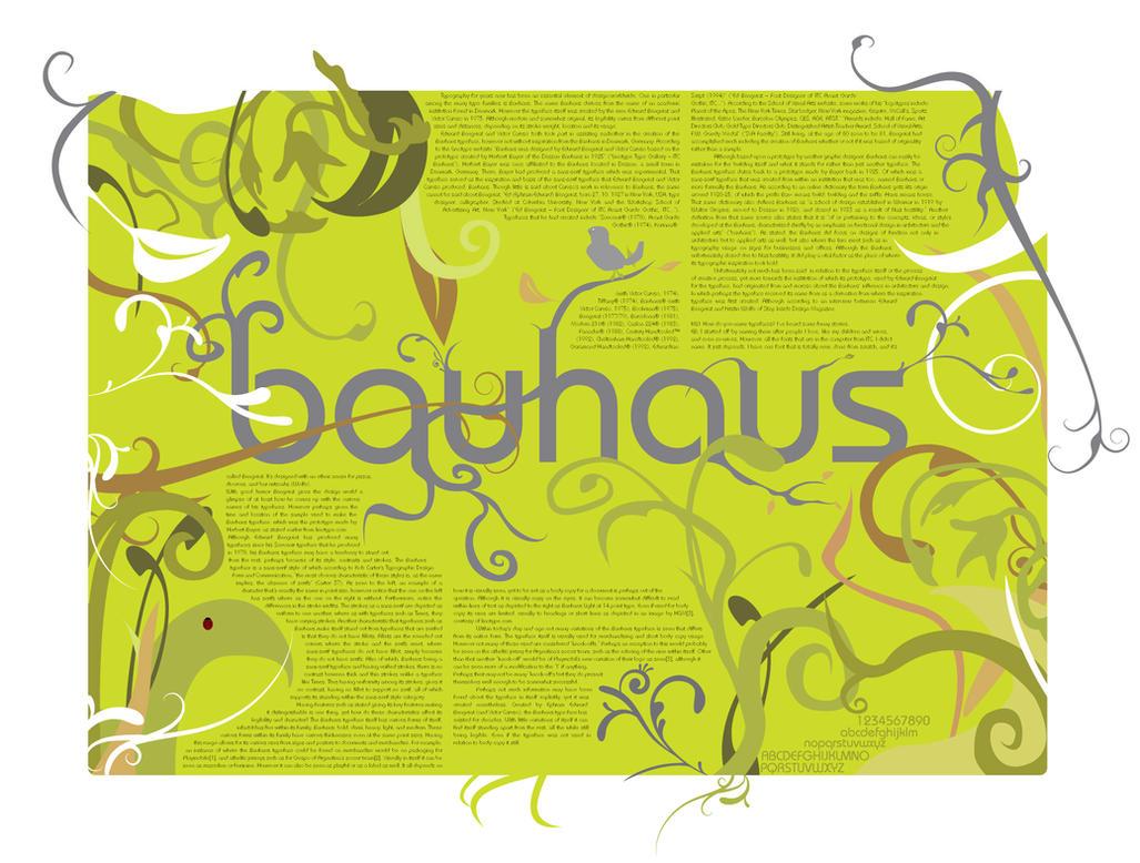 Bauhaus Poster by flipx3ro