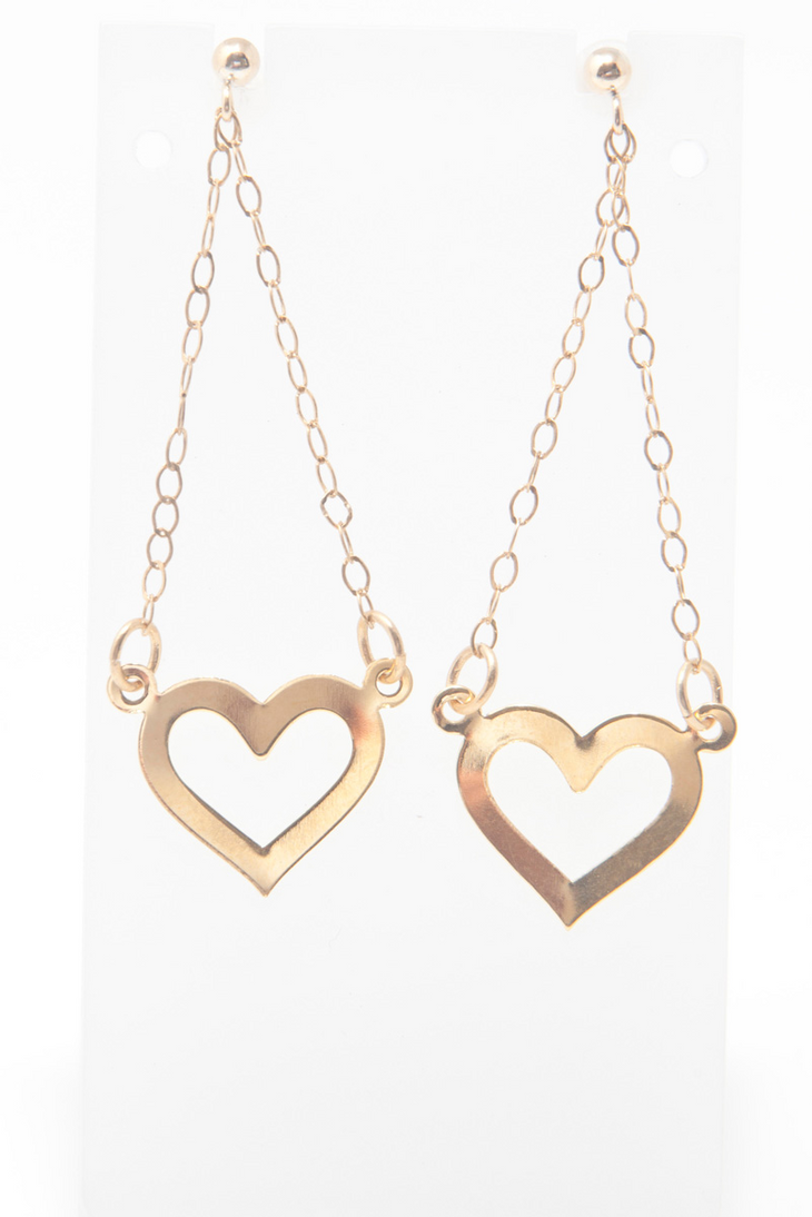 FREE SHIPPING Idit Stern Chained Hearts Earrings by iditstern