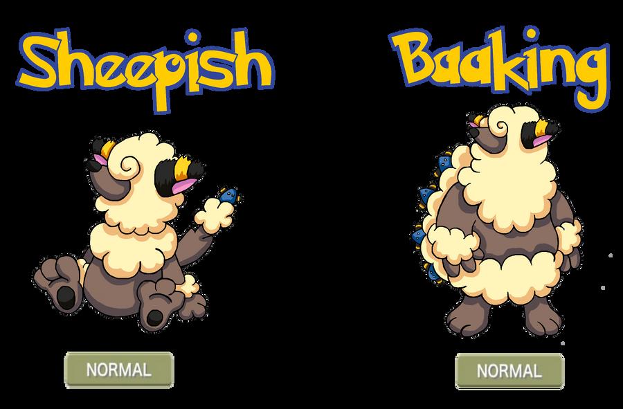 fakemon sheepish baaking by trueform on deviantart