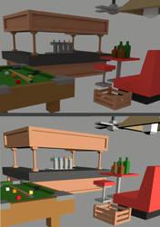 Low Poly Bar Room by Trueform