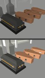 Low Poly Coffins by Trueform