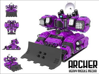 ARCH3R - Heavy Missile Mecha by technoscream