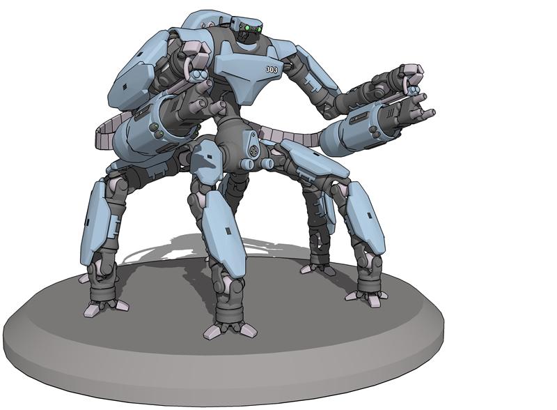 Scarab Anti-Armour Mecha by technoscream