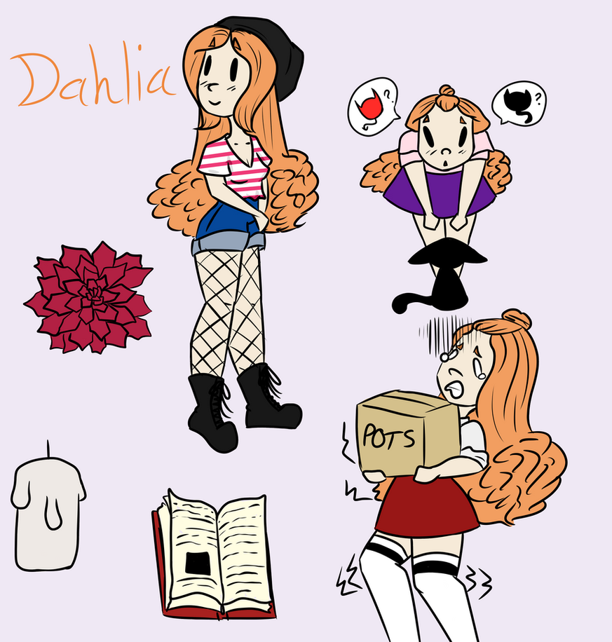 Dahlia Doodle Page by Moro456