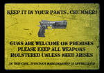 Shadowrun Concealed Carry Gun Sign