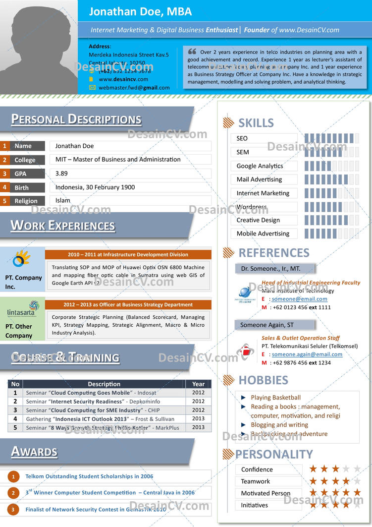 package 6 the blue cv template by firmans89 on package 6 the blue cv template by firmans89