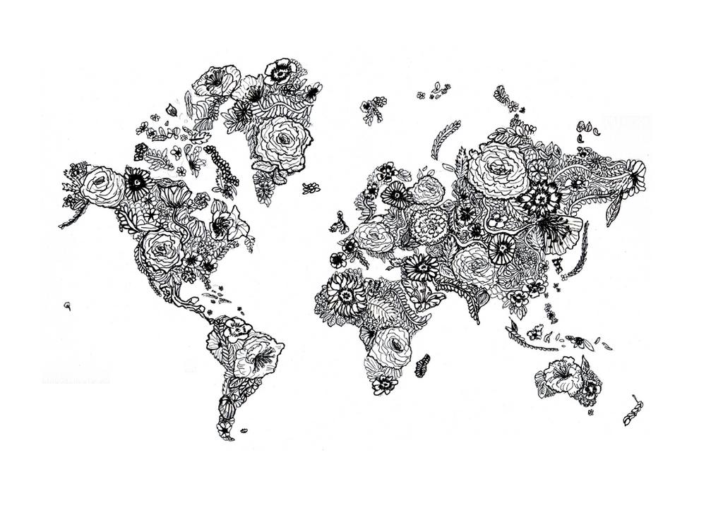 Flower World Map Drawing by LAscandal on DeviantArt