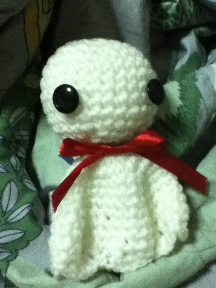Teru Teru Bozu Crochet Doll