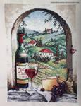 Dreaming of Tuscany Cross Stitch by ShiroiKoumori