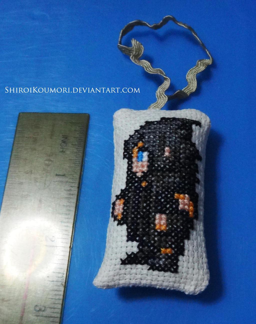 FFXV Noctis Cross Stitch Bag Tag