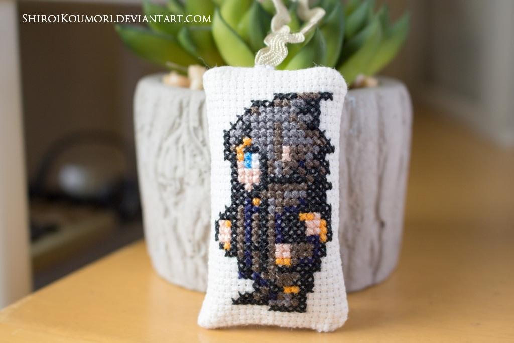 FFXV Noctis Cross Stitch Bag Tag (resubmit)