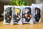 FFXV Boy Band Cross Stitch Bag Tag