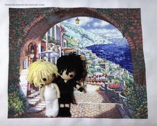 Noctis and Luna in Altissia Embroidery