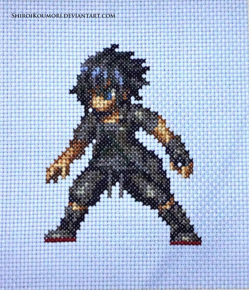 Noctis FFBE Cross Stitch by ShiroiKoumori