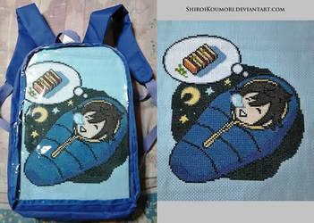 Sleeping Noctis Cross Stitch by ShiroiKoumori