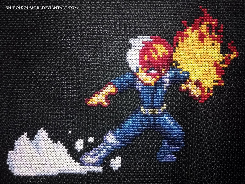 Shoto Todoroki Cross Stitch
