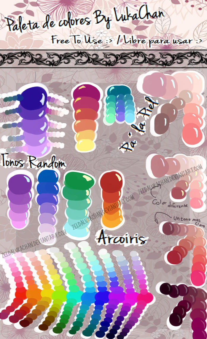 Paleta de colores by lukachan by zeldalukachan on deviantart - Paleta de colores bruguer ...