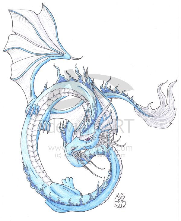 Ice Dragon Drawing Oriental Ice Dragon600 x 734