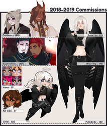 2018-2019 || Commission Info - CLOSED by Mitzbehaven