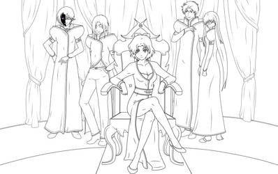 Hylea And Crew by ArtyAmbernite
