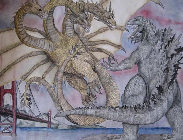 Godzilla vs. King Ghidorah by PrinceHendrikIII on DeviantArt