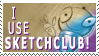 Sketchclub Stamp by SketchieCat