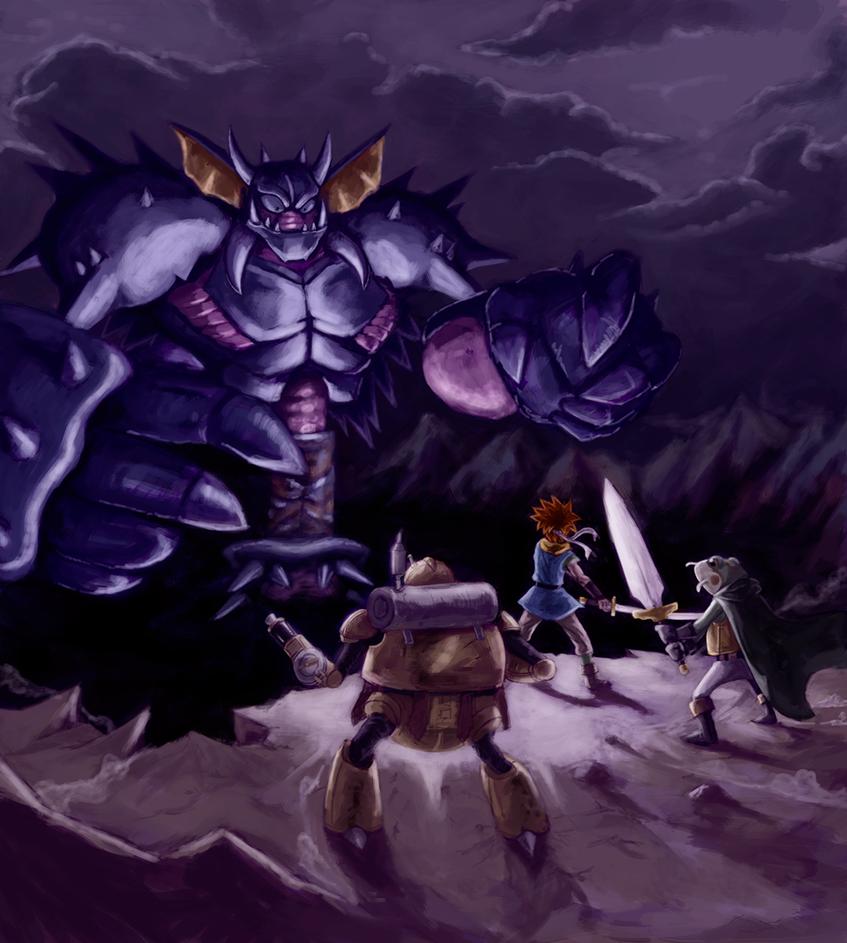 Chrono trigger: Giga gaia battle by Lv-Simian
