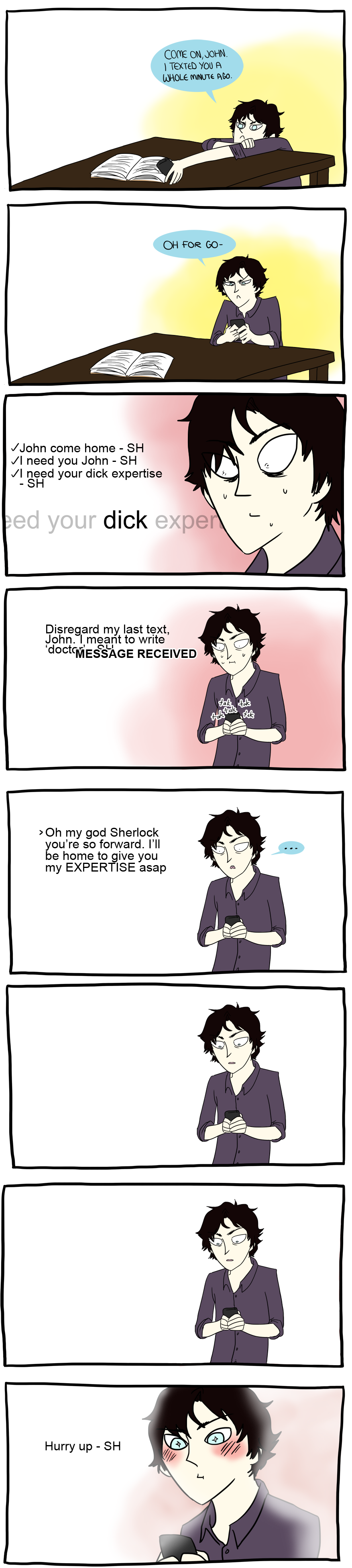 Sherlock should be a fucking pro at texting jeez by brewhay