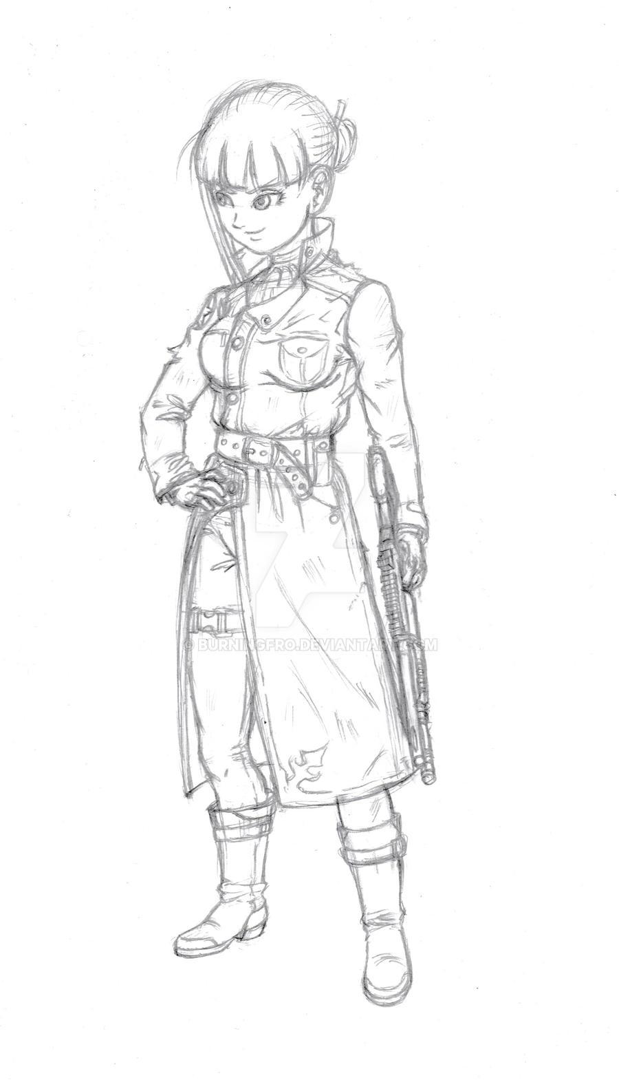 Future Mai sketch by burNiNgFro