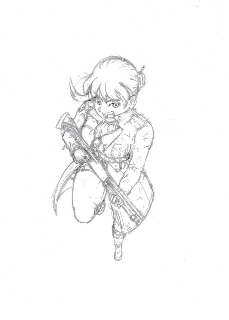 Mai -V2 Sketch by burNiNgFro