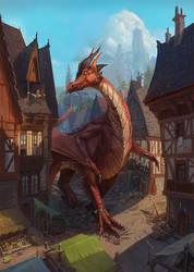 Dragon on a walk