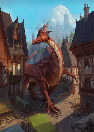 Dragon on a walk by yirikus