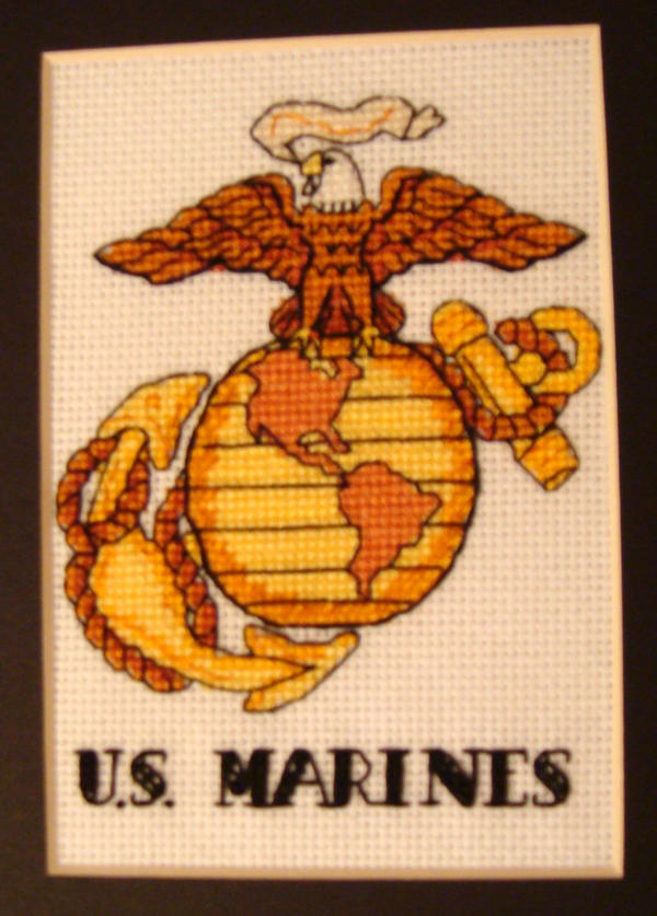 marines cross stitch