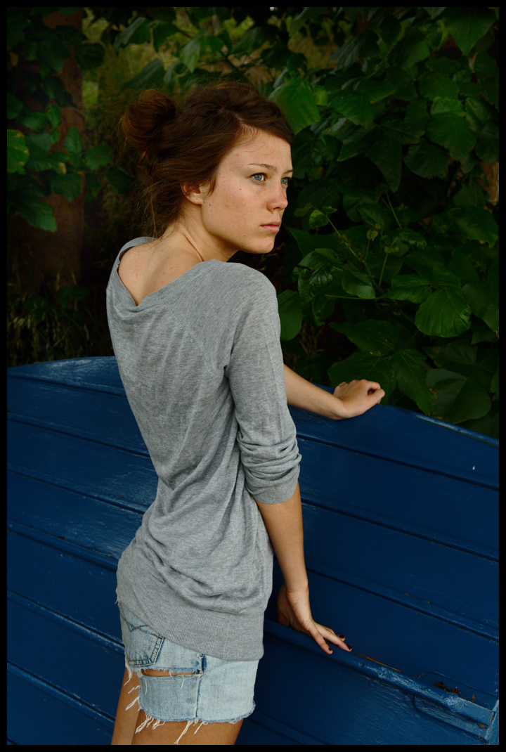 Marie - grey top 2 by wildplaces