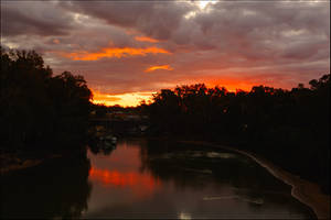 Sunset finale - Echuca by wildplaces