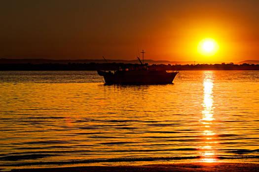 Sunset boat 1