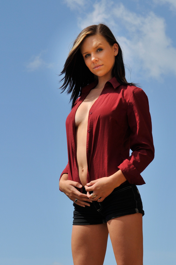 Lauren - red shirt 3 by wildplaces