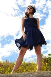 Cassie - blue against sky