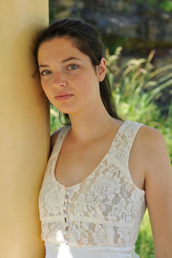 Rosie - portrait in white 2 by wildplaces