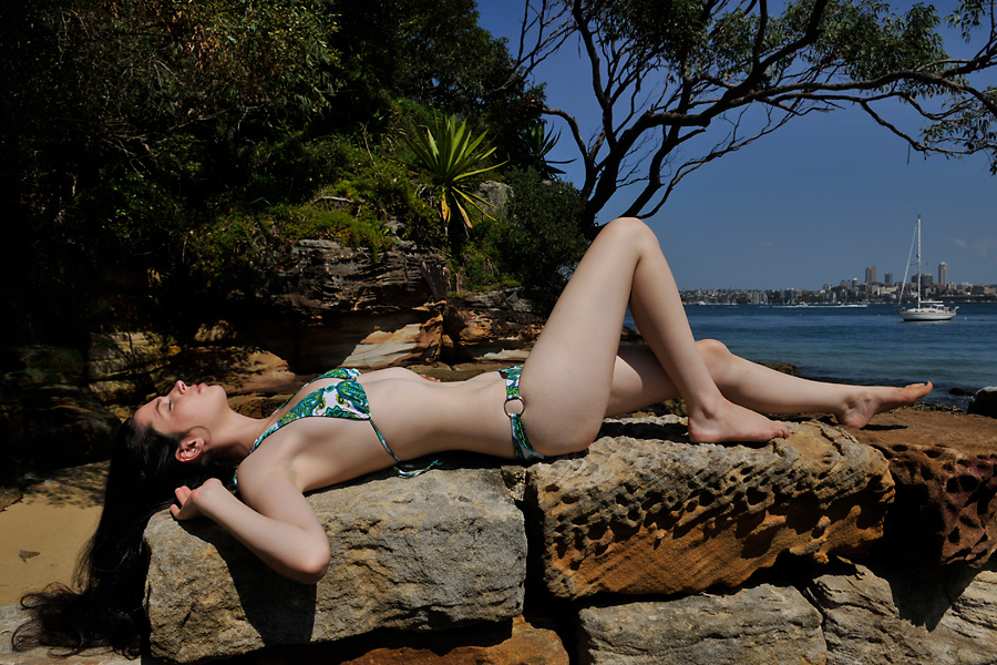 Rosie - harbour wall 1 by wildplaces