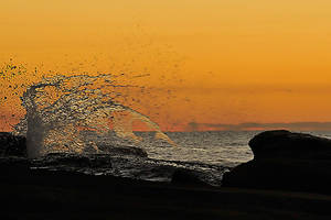Sunrise wave 1 - Terrigal by wildplaces