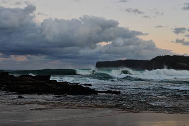 Evening waves - North Avoca 1