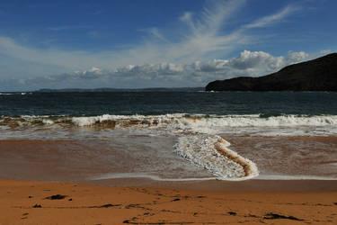 Wave cross-over - Maitland Bay