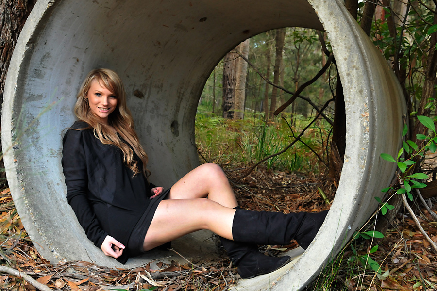 Ashlee - inside pipe 2 by wildplaces