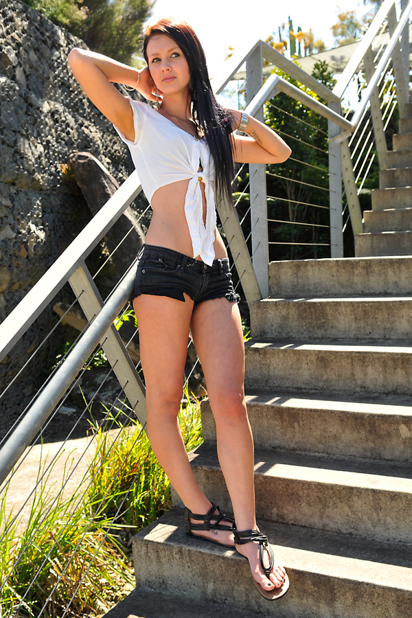Tara - white top on  steps 2 by wildplaces